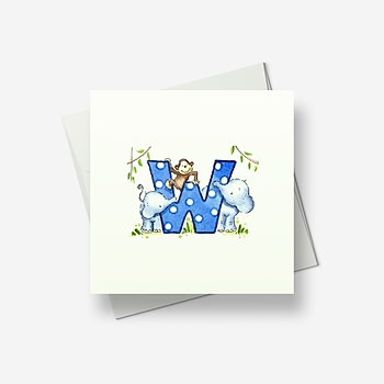 W is for... - Greetings card