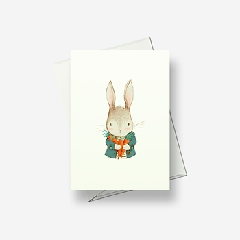 I've picked some nice carrots - Greetings card