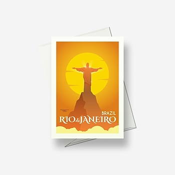 Christ the Redeemer, Brazil - Greetings card