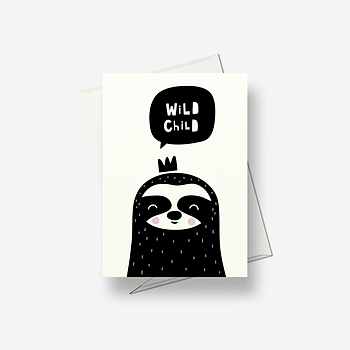 I'm a wild child - Greetings card