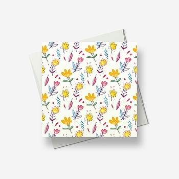 Some spring flowers for you - Greetings card