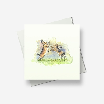 Mad March Hares - Greetings card