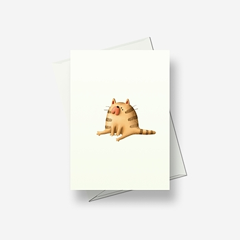 Crazy cat 4 - Greetings card