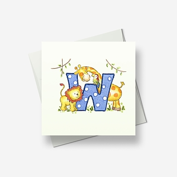 W stands for... - Greetings card