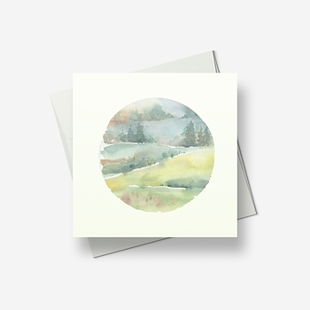 Wispy hills - Greetings card