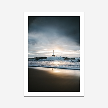 Lighthouse mornings in Scotland - Print (300x400mm)