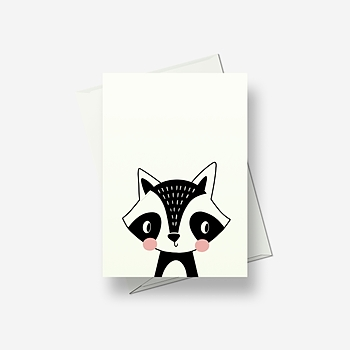 I'm a blushing fox - Greetings card
