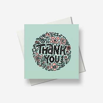Thank you pattern - Greetings card