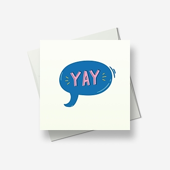 Yay! - Greetings card