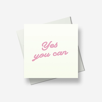 Yes you can - Greetings card