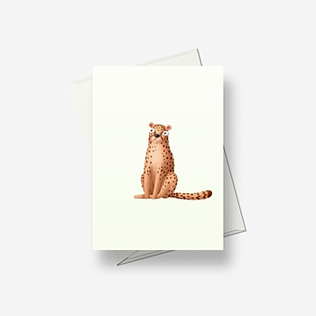 Crazy leopard - Greetings card