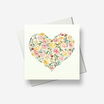 Flowers of love - Greetings card