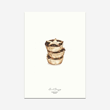 Hot Mince Pies (Christmas Edition) - A4 Print