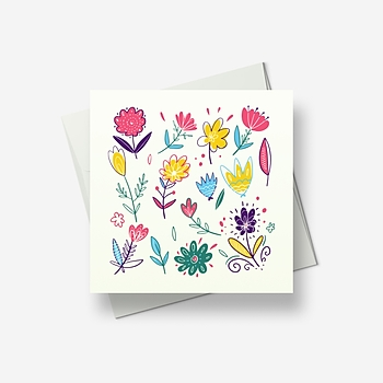 Spring flowers to greet you - Greetings card