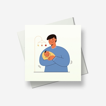 Dad will make you happy - Greetings card