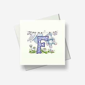 F is for... - Greetings card