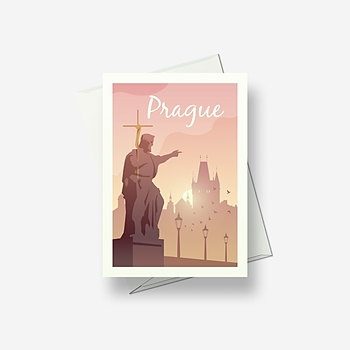 Prague - Greetings card