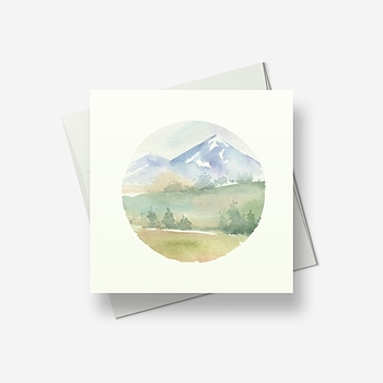Wispy mountain 2 - Greetings card