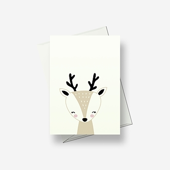 I'm a pretty deer - Greetings card