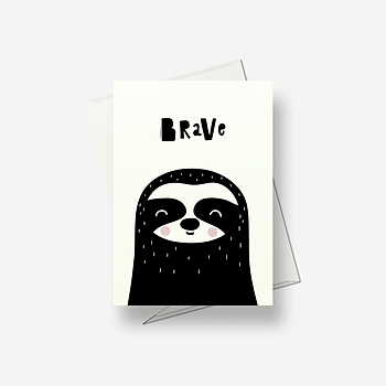 I'm brave - Greetings card