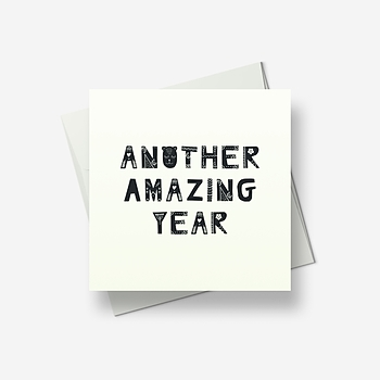 Another amazing year - Greetings card