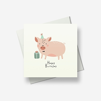 Piglet has a present for you - Greetings card