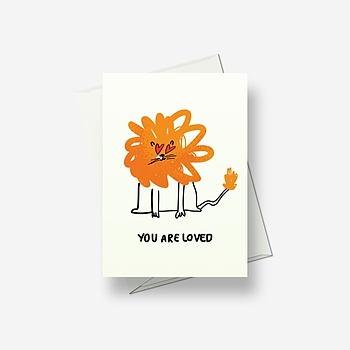I'm a crazy lion in love - Greetings card