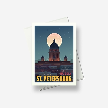St. Petersburg - Greetings card