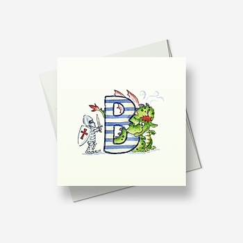 The letter B - Greetings card
