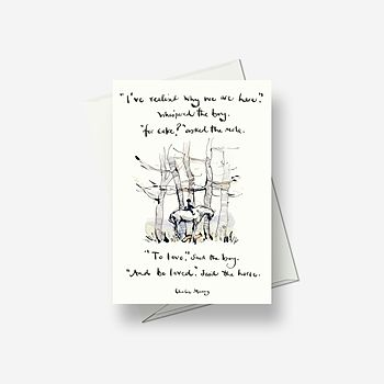 To love and be loved - Greetings card