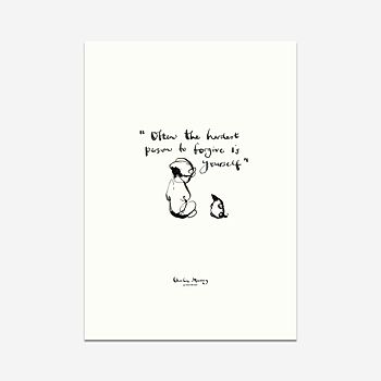 The hardest person to forgive - Print
