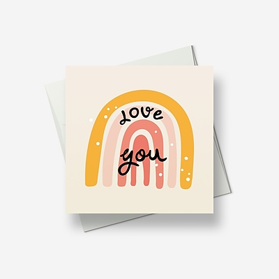 Love you, pure and simple - Greetings card
