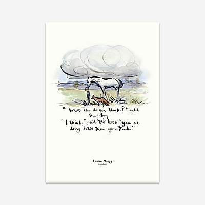 You are doing better than you think - Print