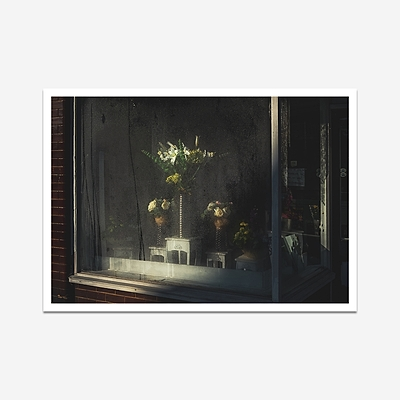 Flowers At The Window - Print