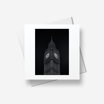 The Clock - Greetings card (square)