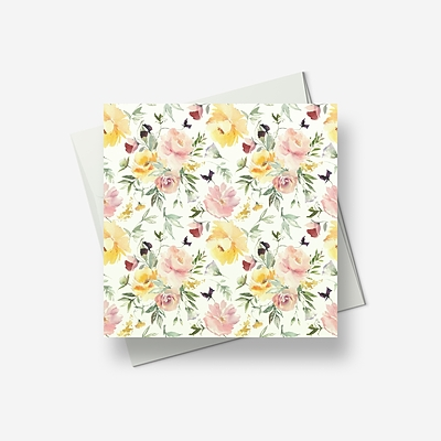 Flowers for celebration - Greetings card