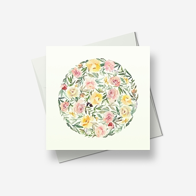Ring-a-ring of roses - Greetings card