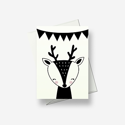 I'm a thoughtful deer - Greetings card