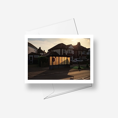 Greenhill Bus Stop - Greetings card