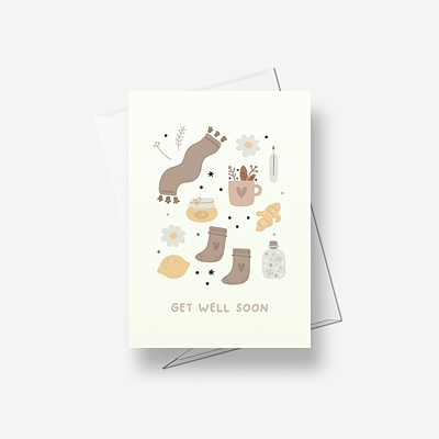 Things to make you get well soon - Greetings card