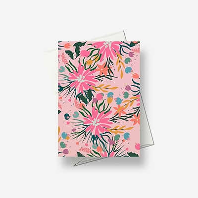 Cool pinks - Greetings card