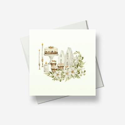 Reminiscences of Spring 3 - Greetings card