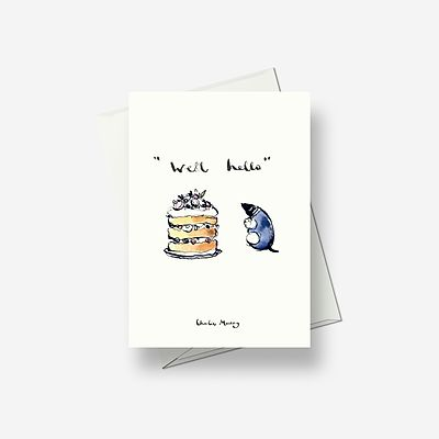 """Well Hello"" - Greetings card"
