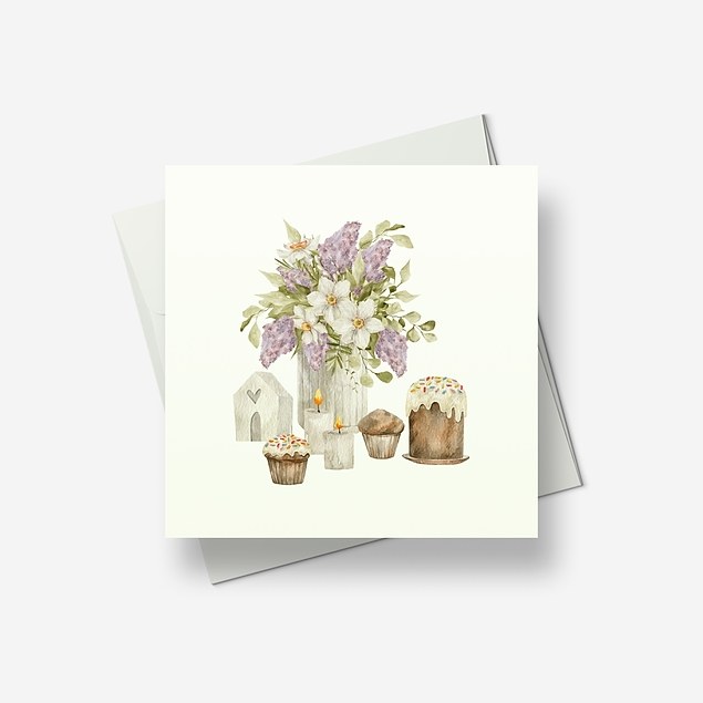 Reminiscences of Spring 1 - Greetings card
