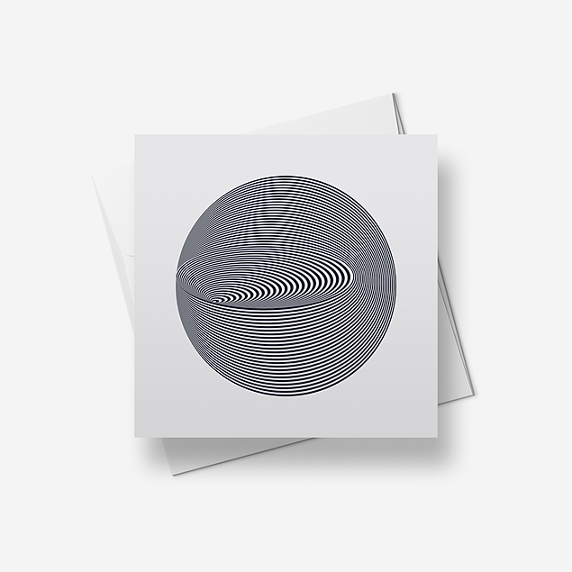Crater illusion - Greetings card