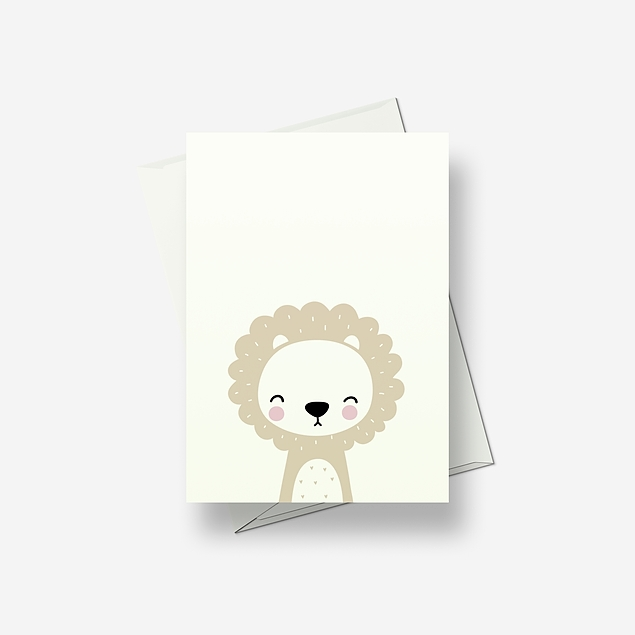 I'm a baby lion - Greetings card