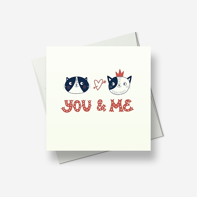 Together, you and me - Greetings card