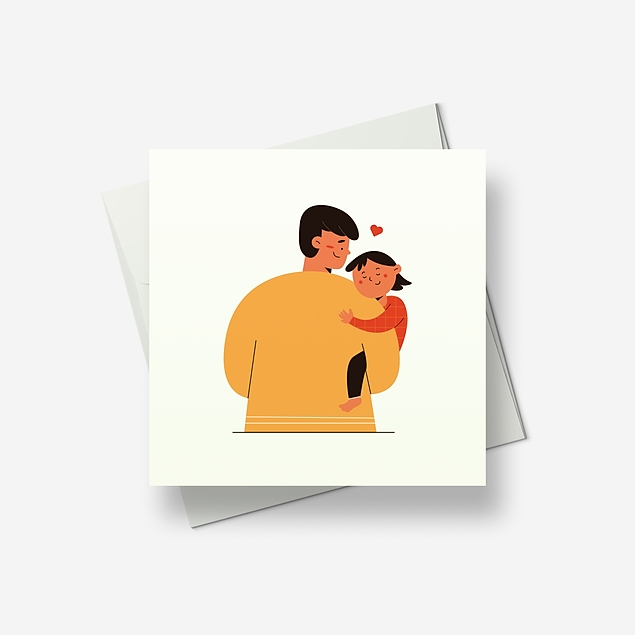 Daddy will carry you to bed - Greetings card