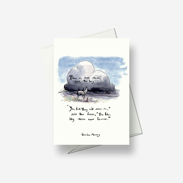 The blue sky never leaves - Greetings card