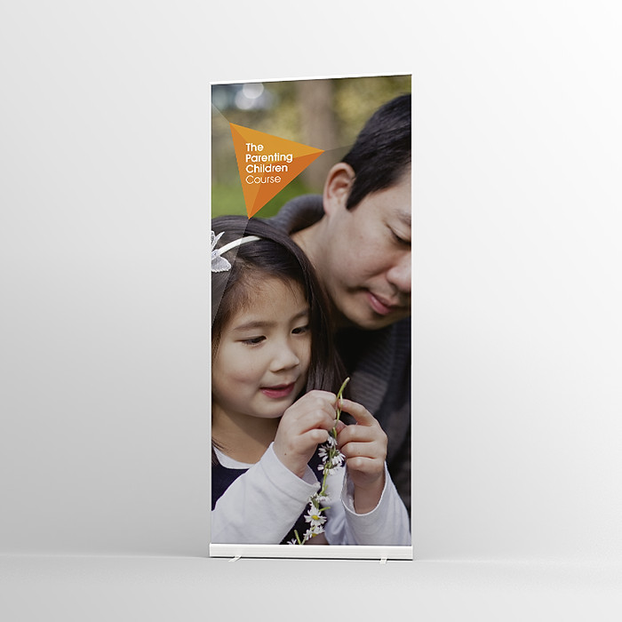 The Parenting Children Course Pull-up banner Version 4 - Standard Pull-up Banner